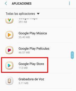 seleccionar google play store