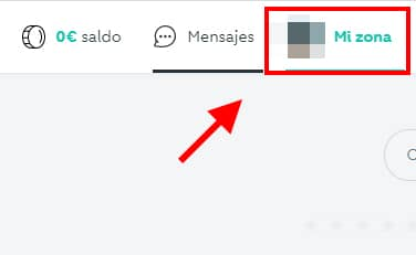 seleccionar mi zona perfil wallapop