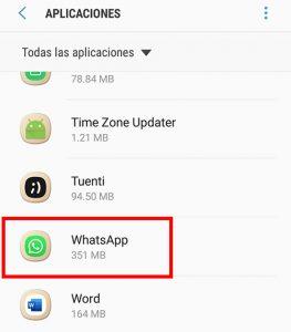 seleccionar whatsapp